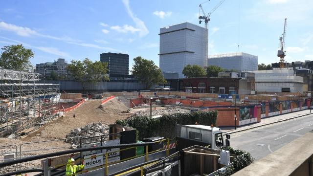 The construction site for the HS2 high speed rail scheme in Euston, London.