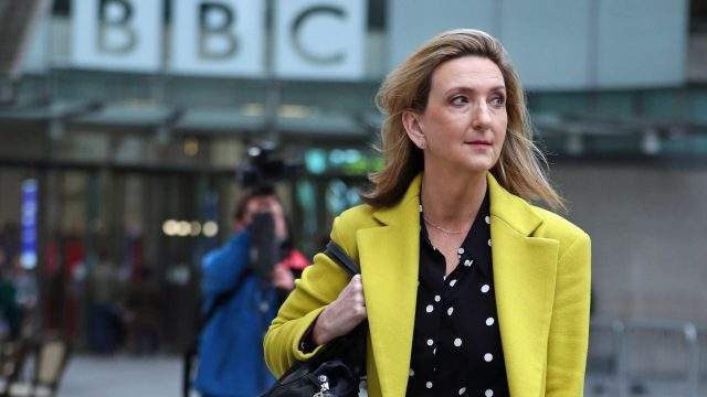 Presenter Victoria Derbyshire challenged BBC bosses at a briefing to announce 450 job losses