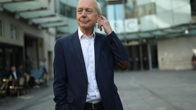 Broadcaster John Humphrys leaves New Broadcasting House after presenting his final show on the Today programme.