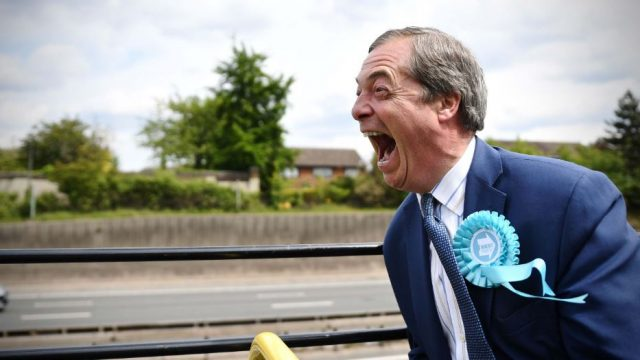 Nigel Farage on the campaign trail with the Brexit Party (Photo: Channel 4)
