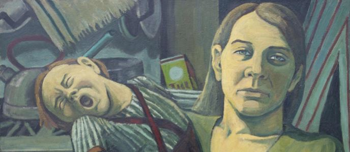 Maureen Scott, Mother and Child at Breaking Point, 1970 (Image courtesy of Bethlem Museum of the Mind)