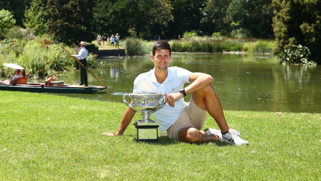 Article thumbnail: Australian Open winner Novak Djokovic