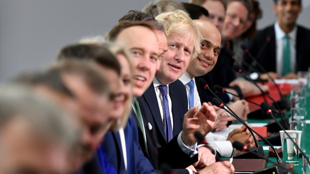 Britain's Prime Minister Boris Johnson chairs a cabinet meeting on January 31, 2020.