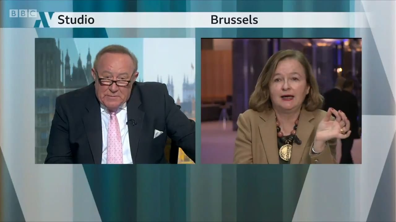 Andrew Neil Accused Of Being Spokesman For Boris Johnson During No Deal Brexit Clash With French Mep Natalie Loiseau