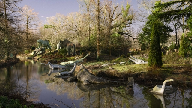 The Crystal Palace dinosaurs have been added to Historic England's Heritage at Risk Register 2020 because they are displaying large cracks and some are in danger of losing their toes, teeth and tails