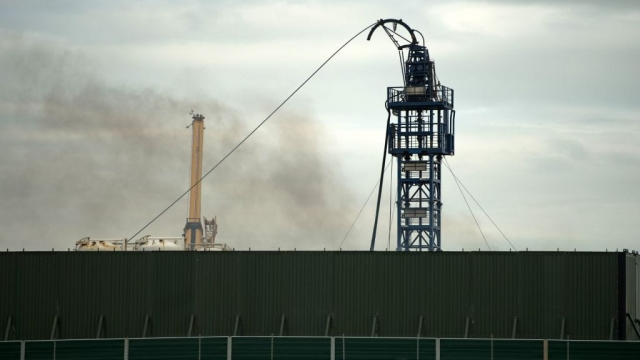 Cuadrilla's Preston New Road drill site where the firm carried out fracking in 2018 and 2019. (Photo by Oli Scarff/AFP via Getty Images)