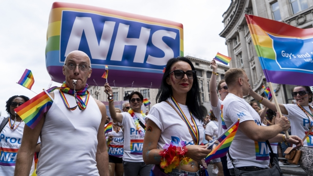 NHS Pride parade