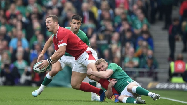 George North of Wales is tackled against Ireland on 7 September 2019 (Getty Images)