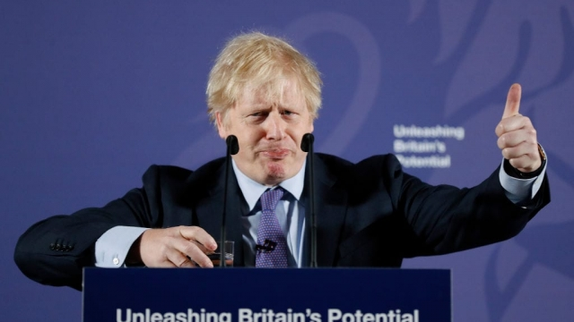 Boris Johnson making a speech in London (Photo: Getty Images)