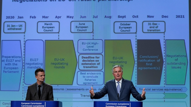 EU Brexit negotiator Michel Barnier speaks during a press conference on negotiations with the UK (Photo: Kenzo Tribouillard/AFP/Getty)