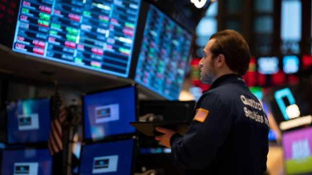 Dow Jones Industrial Average in New York also ended the trading session at a six-month low, also dropping 4.4 per cent to 25,766.64 points