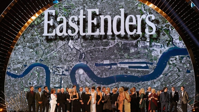 Article thumbnail: The cast of EastEnders accept the Serial Drama award at the 21st National Television Awards in 2016