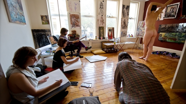 Would you dare try out life drawing - or even post as a model? (Photo: Leon Neal/AFP via Getty Images)