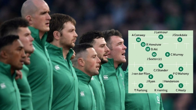 Peter O'Mahony and Robbie Henshaw make the starting lineup following injuries to Caelan Doris and Garry Ringrose (Getty Images)