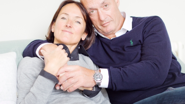 Juliet and her late husband Andrew (picture: Lucy Wallace)