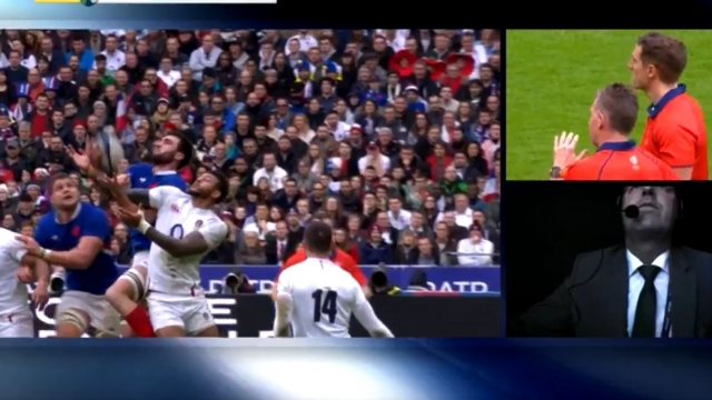 Did France captain Charles Ollivon knock-on in the build-up to his side's second try? (BBC)