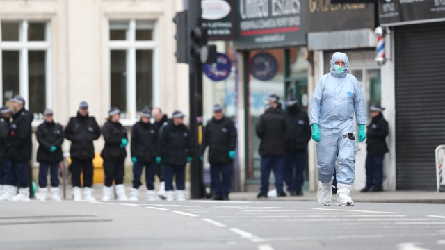 Police activity at the scene following the terror attack in Streatham High Road. Ministers are introducing emergency legislation in the wake of the attack (Photo credit: Aaron Chown/PA Wire)