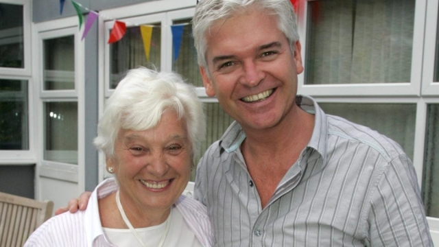 Phillip Schofield with his mother Pat, who is 83