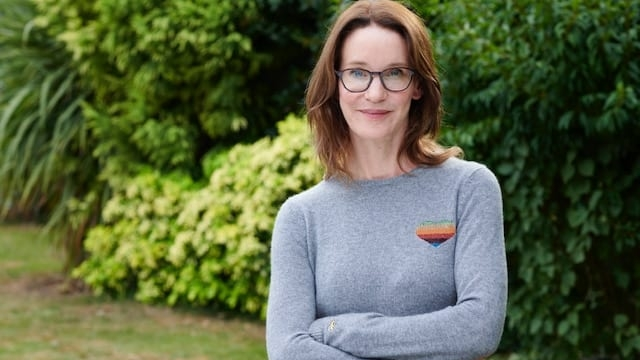 Article thumbnail: Susie Dent, the lexicographer and co-hosts the Something Rhymes With Purple podcast says she is fascinated with swear words (Photo: via Carver PR)