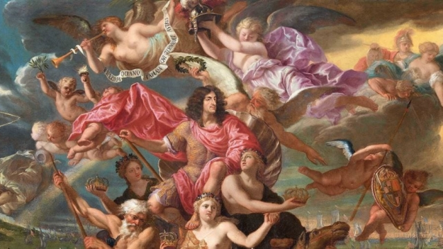 Antonio Verrio's 'The Sea Triumph of Charles II' was painted in 1674 (Photo: Antonio Verrio The Sea Triumph of Charles II, 1674/From British Baroque at the Tate Gallery)