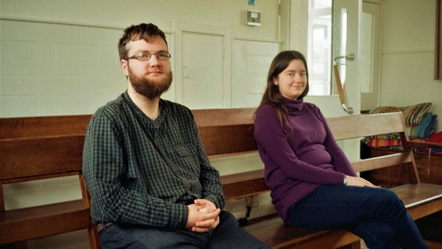Young Quakers Tim and Rachael. Tim says that Quakerism reflects his beliefs politically, personally and socially