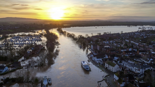 Six 'severe flooding' warnings were in place on the River Severn, the River Wye and the River Lugg in Herefordshire for danger to life