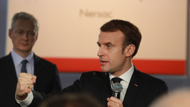 Emmanuel Macron said his country sees its nuclear weapons as a deterrent against attacks from belligerent foes