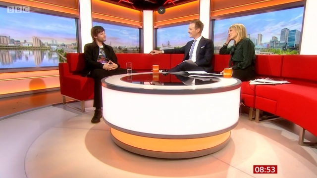 Article thumbnail: Louis Tomlinson on BBC Breakfast with Dan Walker and Louise Minchin