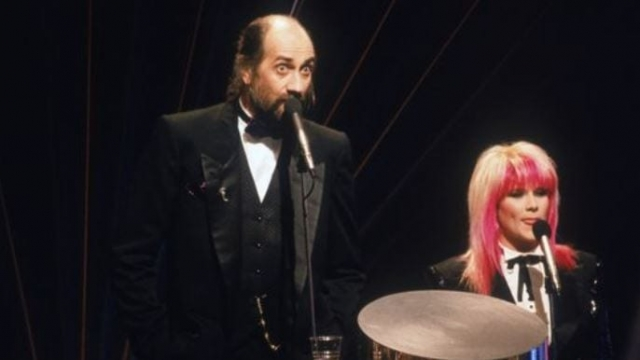 Article thumbnail: Samantha Fox and Mick Fleetwood were the catastrophic hosts of the Brits in 1984