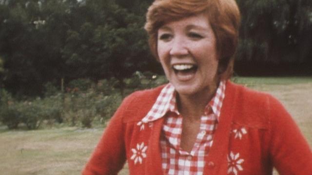 Article thumbnail: Cilla Black in her garden at her home in Denham, Buckinghamshire in 1972