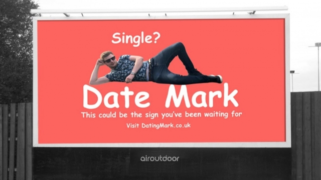 Mark Rofe spent £425 on a billboard in Manchester