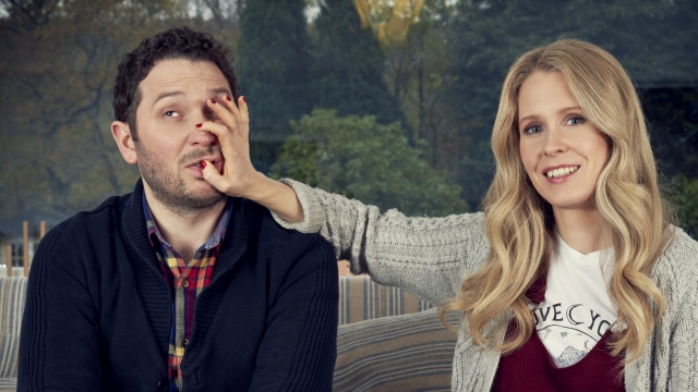 Married comedians Lucy Beaumont and Jon Richardson have teamed up for a new sitcom, Meet The Richardsons (Photo: Dave)