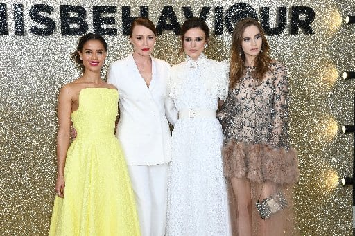 Gugu Mbatha-Raw, Keeley Hawes, Keira Knightley and Suki Waterhouse attend the Misbehaviour premiere