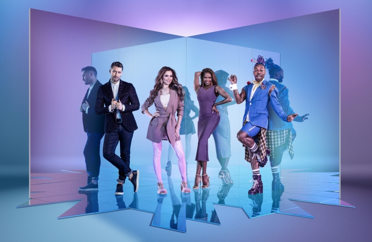 The Greatest Dancer judges Matthew Morrison, Cheryl, Oti Mabuse and Todrick Hall (Photo: BBC)