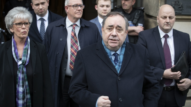 Alex Salmond leaving the High Court in Edinburgh after being cleared (Photo: PA)