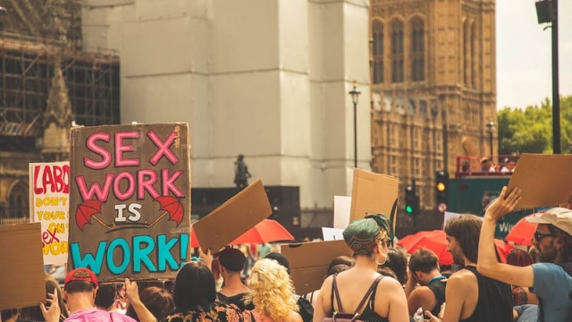 In the UK, sex workers will be a central part of the International Women's Day sex/work strike (Picture: Juno Mac/SWARM)