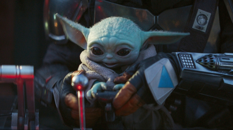 Baby Yoda in The Mandalorian on Disney+
