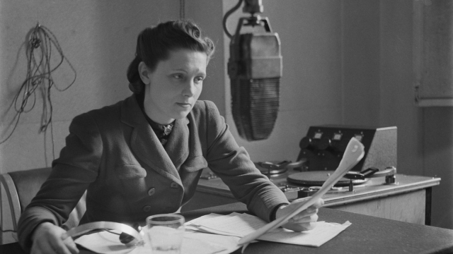 British radio personality Kay Cavendish of the BBC, during World War II, December 1940