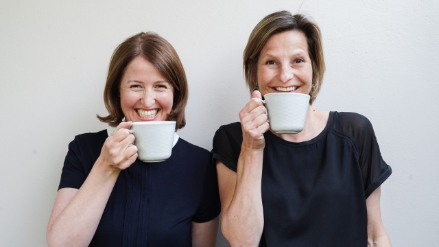Nancy Saddington (left) and Elisabeth Dewey (right) launched Mondays, which provide eco-friendly sanitary products (Photo: Mondays)