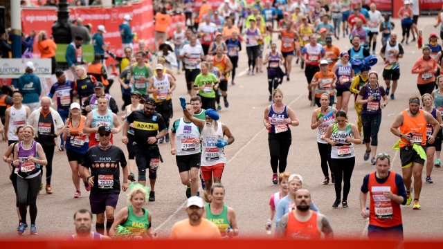 'This period from March to end of June is crucial to us, and the postponement of the London Marathon (pictured) and other challenge events is a dreadful blow' (Photo by Jeff Spicer/Getty Images)