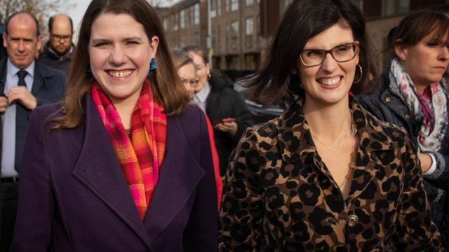 Layla Moran, right, wants to replace Jo Swinson as Lib Dem leader (Photo: Dan Kitwood/Getty Images)