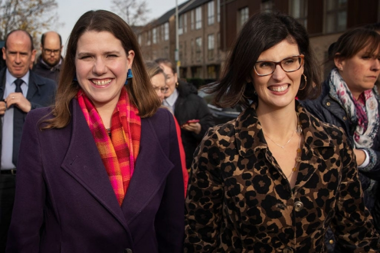 Layla Moran, right, wants to replace Jo Swinson as Lib Dem leader (Photo: Dan Kitwood/Getty Images)