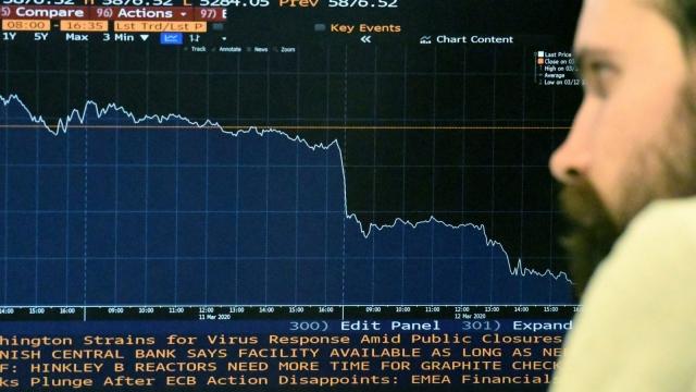 The FTSE 100 has fallen again today (Photo DANIEL SORABJI/AFP via Getty Images)