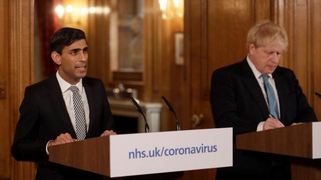 Rishi Sunak, (L) and Boris Johnson set out the latest moves