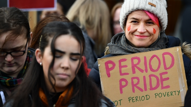 Article thumbnail: VAT on sanitary products is currently levied at five per cent, the minimum permitted under European Union rules, but the levy will be scrapped