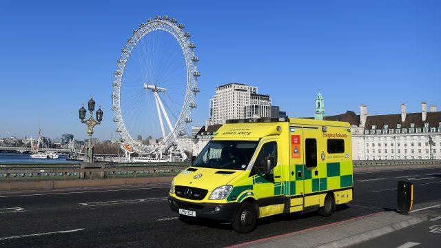 An Ambulance crosses Westminster Bridge (Photo: Alex Davidson/Getty Images)