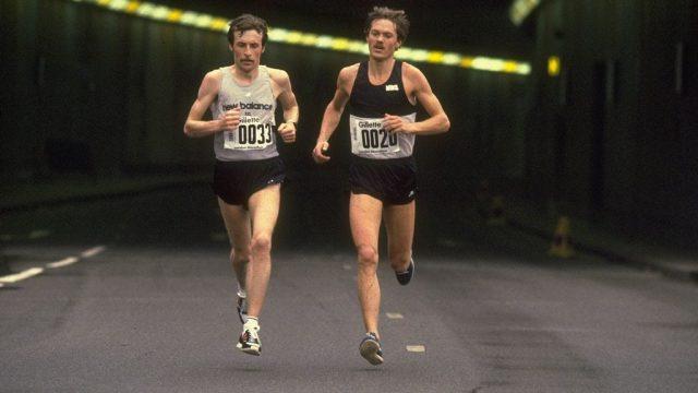 London Marathon winners Dick Beardsley and Inge Simonsen