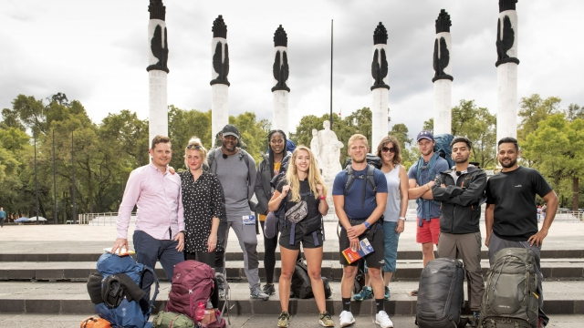 The Race Across The World contestants assemble