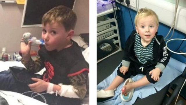 Blake Mattison's mother Gemma wants to see schools shut to protect her son who has to be hospitalised if he catches a cold (Photos: Gemma Mattison)