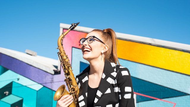 Saxophonist Jess Gillam wants musicians to join her in a virtual orchestra